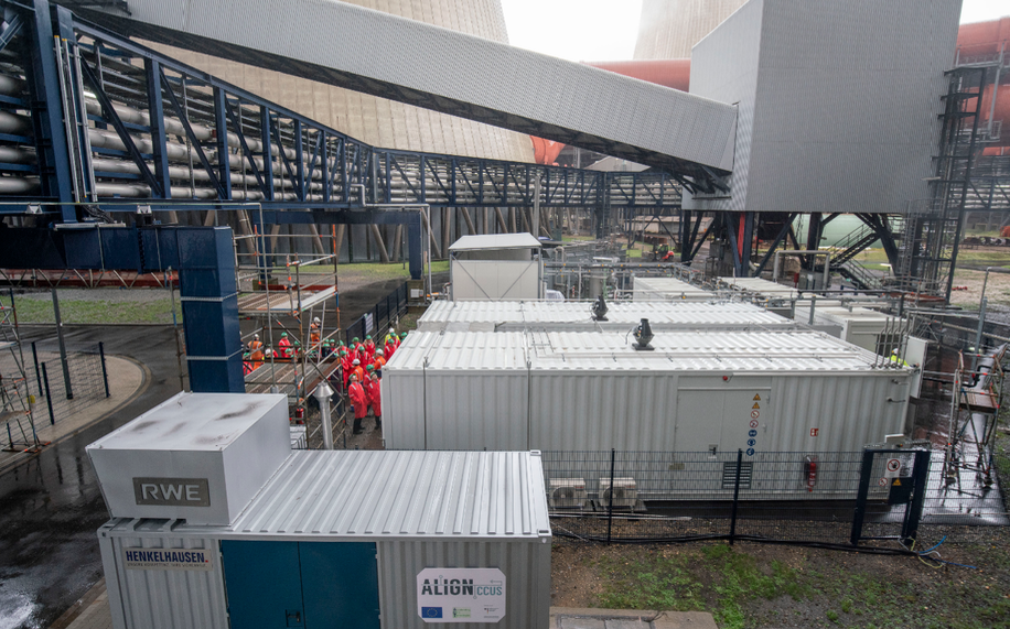 The ALIGN-CCUS testing facility. Photo: RWE